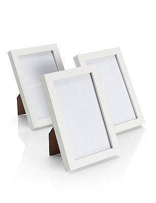 3 Photo Frames 10 x 15cm (4 x 6''), WHITE, catlanding