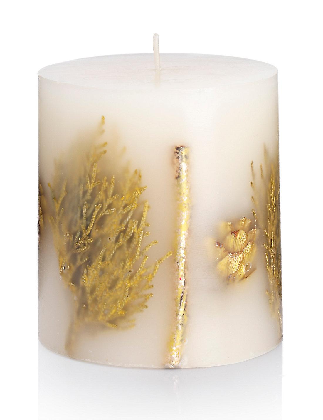 Frankincense & Myrrh Inclusion Scented Candle   M&S
