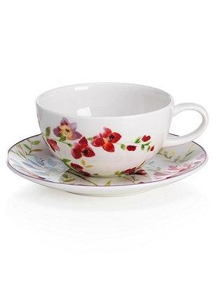 Spring Meadow Cup & Saucer Set, , catlanding