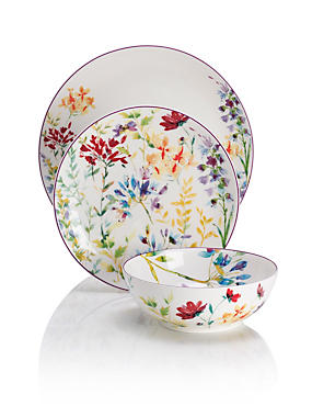 Brights Spring Meadow 12 Piece Dinner Set