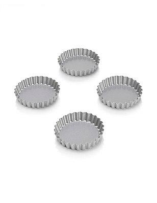 4 Non-Stick Mini Tartlet Tins, , catlanding