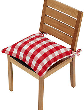 Gingham Checked Seat Pad