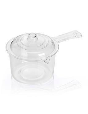 Microwaveable Lidded Saucepan, , catlanding