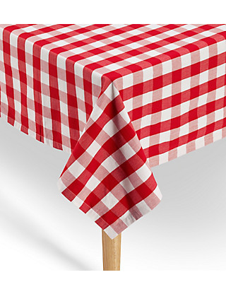 Pure Cotton Gingham Checked Dining Tablecloth Home