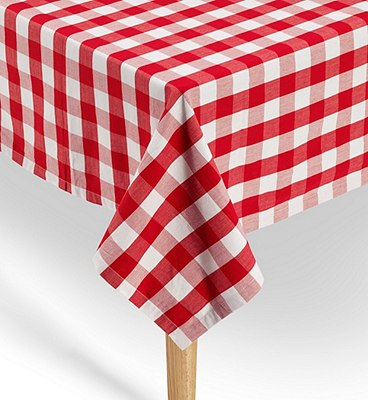 Pure Cotton Gingham Checked Dining Tablecloth, , catlanding