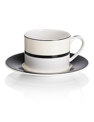 Manhattan Cup & Saucer Set, BLACK MIX, catlanding