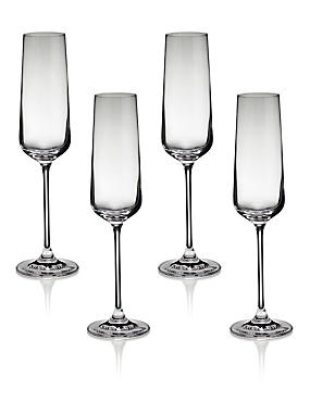 4 Nova Champagne Glasses, , catlanding