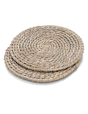 2 Straw Placemats