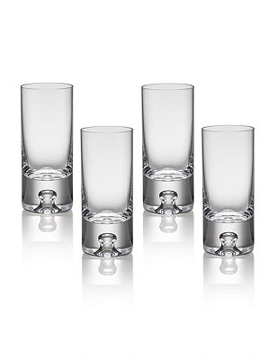 4 Soho Bubble Base Shot Glasses, , catlanding