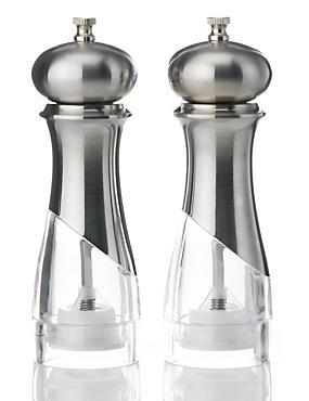 2moulins à sel et poivre New York, ARGENT, catlanding