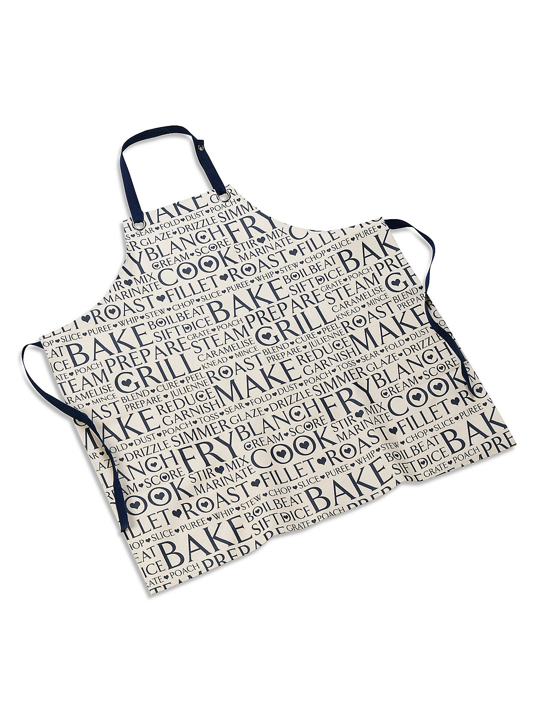 White apron marks and spencer - Oil Cloth Cook Words Apron