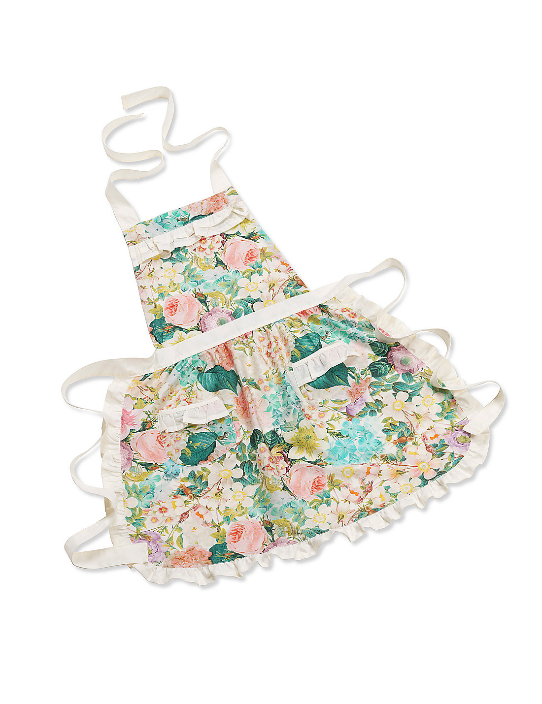 White apron marks and spencer - Antique Floral Apron