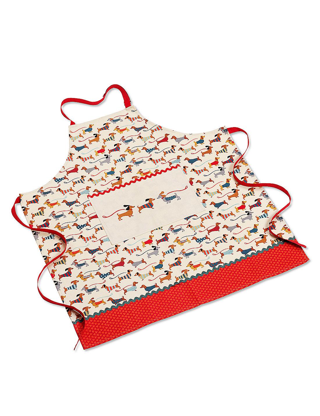 White apron marks and spencer - Dachshund Dog Print Apron