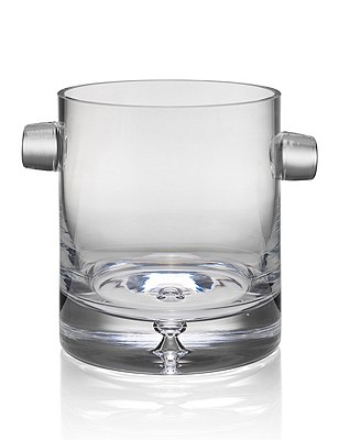 Soho Bubble Base Ice Bucket, CLEAR, catlanding