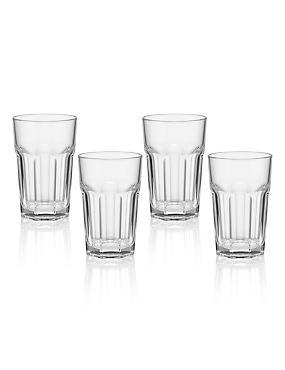 4 American Soda Hi Ball Glasses, , catlanding