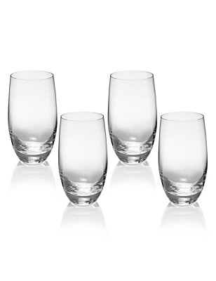 4 Barrel Hi Ball Glasses, CLEAR, catlanding