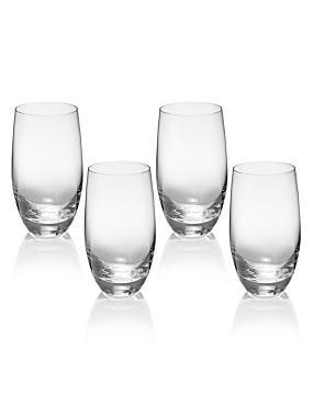 4 Barrel Hi Ball Glasses, CLEAR, catlanding