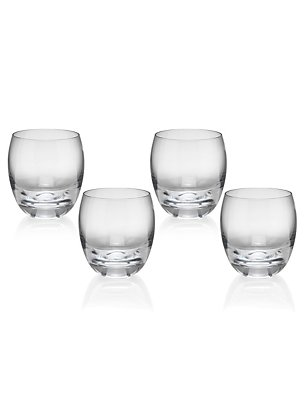 4 Barrel Tumblers, CLEAR, catlanding