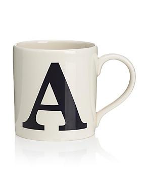 Letter A Mug, , catlanding