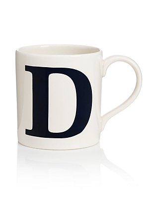 Letter D Mug, , catlanding