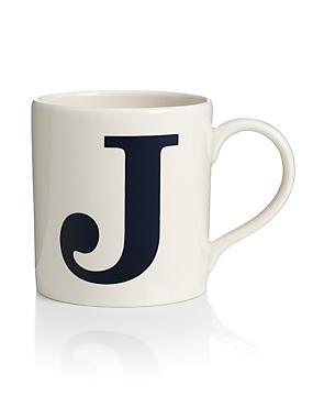 Letter J Mug, , catlanding