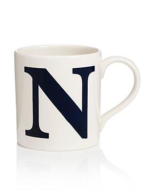 Mok met letter N, , catlanding