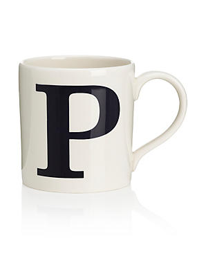 Letter P Mug, , catlanding
