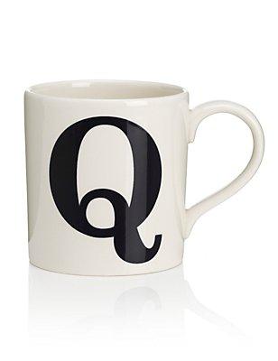 Letter Q Mug, , catlanding