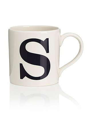 Letter S Mug, , catlanding