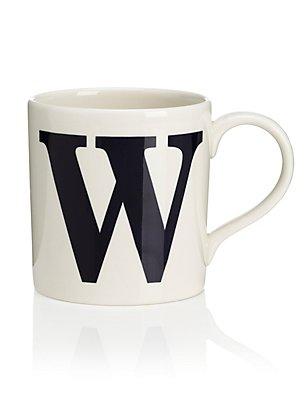 Letter W Mug, , catlanding