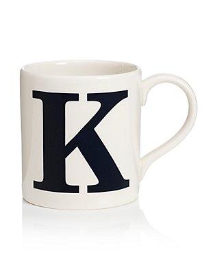 Letter K Mug, , catlanding
