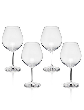 4 Sommelier Large Red Wine Glasses Home