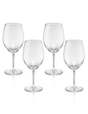4 Sommelier Red Wine Glasses