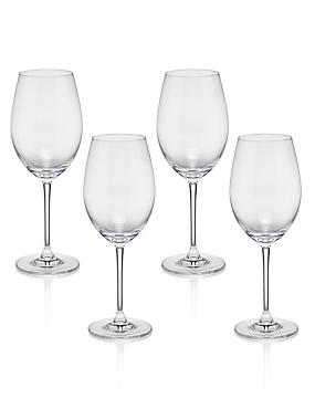 4 Sommelier White Wine Glasses