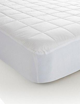 Cotton Mattress Protector, WHITE, catlanding