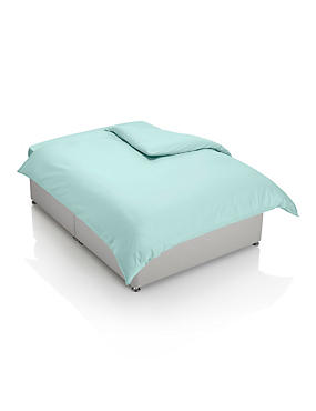 200 Thread Count Comfortably Cool Duvet Cover, DUCK EGG, catlanding