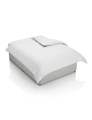 200 Thread Count Comfortably Cool Duvet Cover, WHITE, catlanding