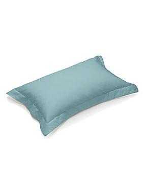 Taie d'oreiller en coton égyptien avec une densité de tissage de 230fils, dotée de la technologie StayNEW™, VERT-DE-GRIS CLAIR, catlanding