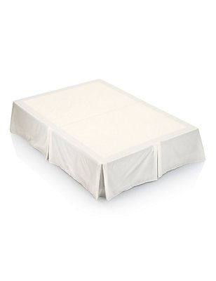 Non-Iron Pure Egyptian Cotton Valance Sheet - 230 Thread Count, CREAM, catlanding