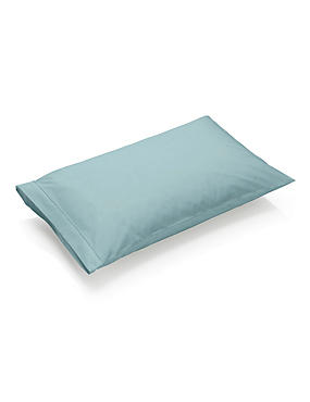 Taie d'oreiller rectangulaire 100% coton égyptien avec une densité de tissage de 230fils dotée de la technologie StayNEW™, VERT-DE-GRIS CLAIR, catlanding