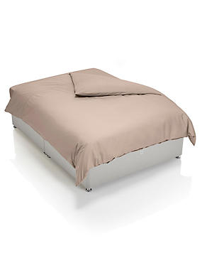 Cotton Rich Percale Duvet Cover, CAPPUCCINO, catlanding