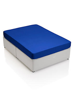 Percale Fitted Sheet, COBALT, catlanding