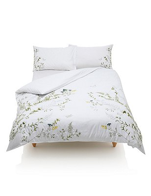 Botanical Embroidered Bedding Set , , catlanding