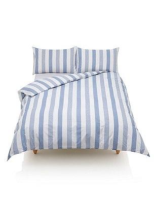 Hadley Striped Bedding Set, BLUE MIX, catlanding