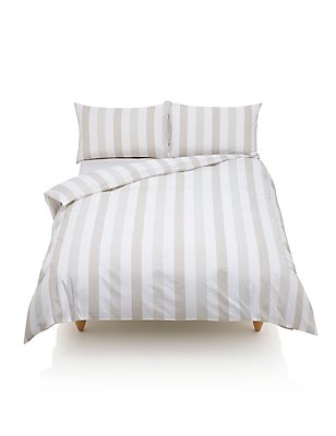 Hadley Striped Bedding Set, NATURAL, catlanding