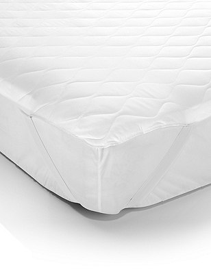 Simply Soft Mattress Protector, WHITE, catlanding