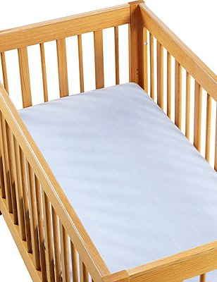2 Pack Pure Jersey Cotton Baby Cot Bed Fitted Sheets, , catlanding