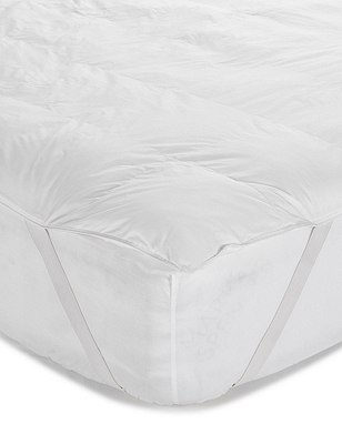 Supremely Washable Mattress Topper, WHITE, catlanding