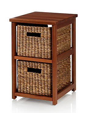 Water Hyacinth 2 Tier Storage Unit