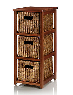 Water Hyacinth 3 Tier Storage Unit